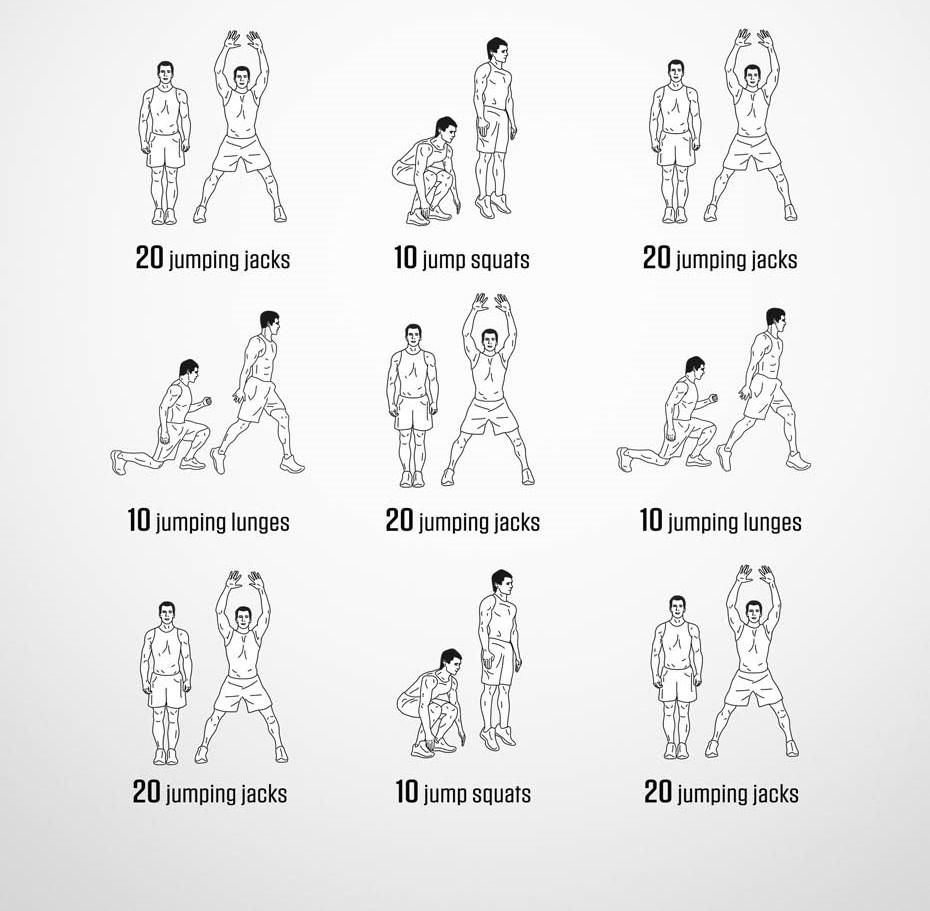 Комплекс упражнений для похудения мужские